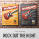 Rockout the Night Flyer Template
