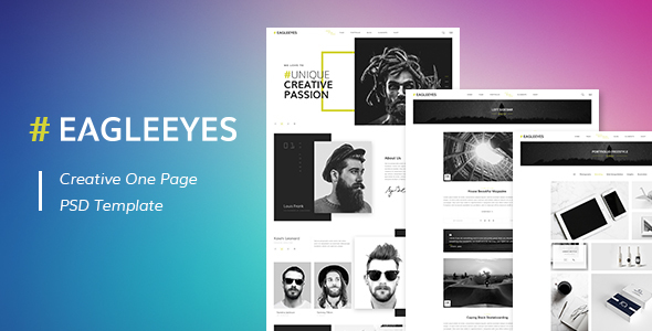 EAGLEEYES - Creative One Page PSD Template