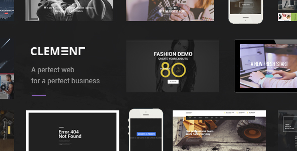 Clement - Multi-Purpose PSD Template