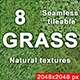 8 textures of the grass - pack1