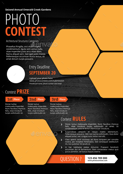 photo contest flyer by monggokerso graphicriver. Black Bedroom Furniture Sets. Home Design Ideas