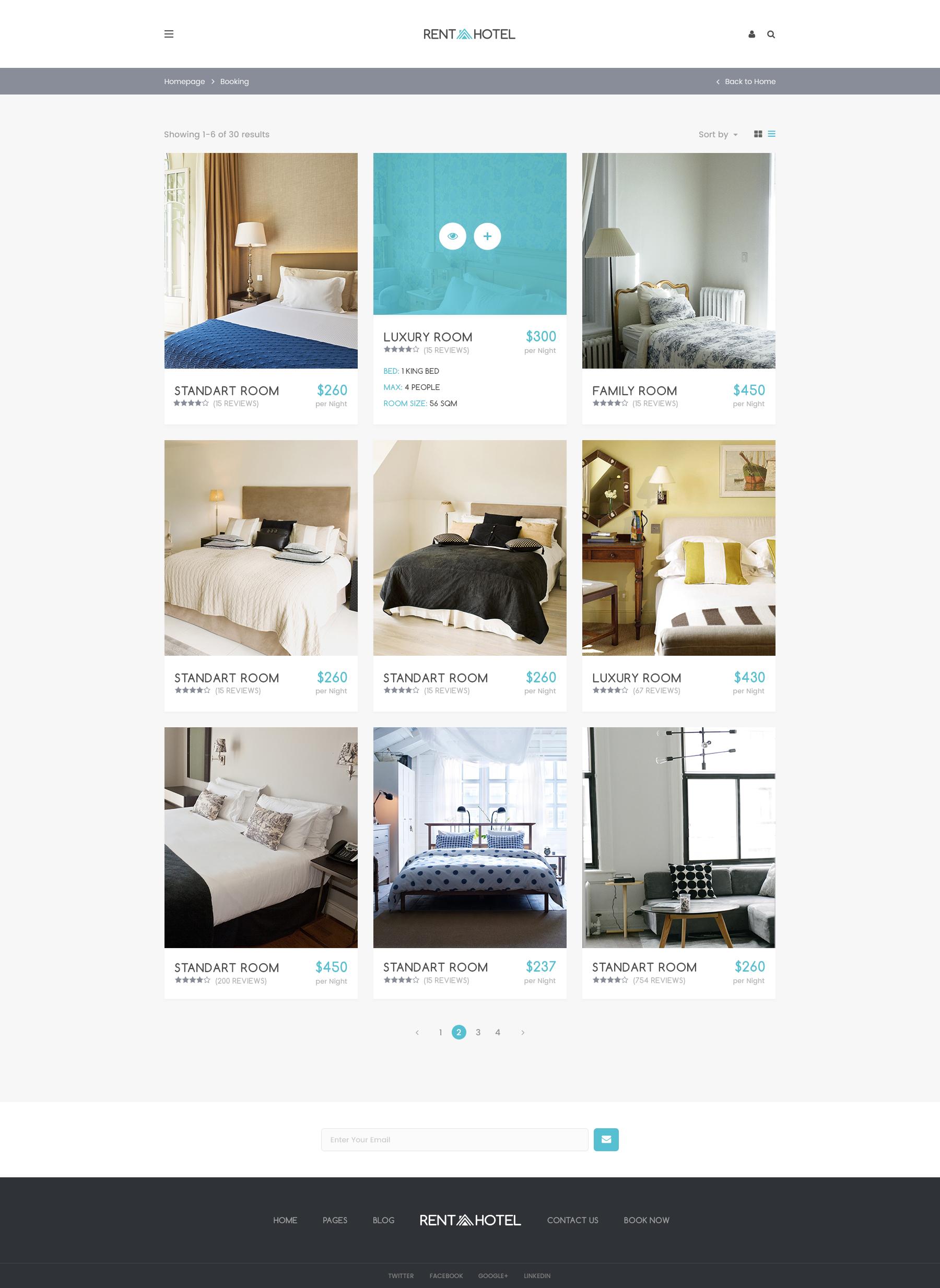 Rent A Hotel Hostel Guest House Booking Website Psd