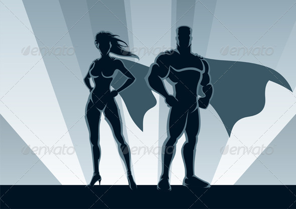 Superhero Couple - People Characters
