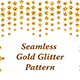 Seamless Golden Glitter Pattern