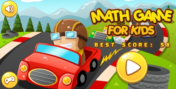 Math Game For Kids - HTML5 Game + Android + AdMob (Capx)