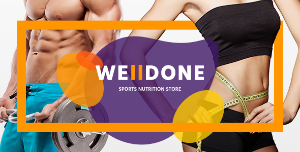 Download Welldone - Sports & Fitness Nutrition and Supplements Store nulled download