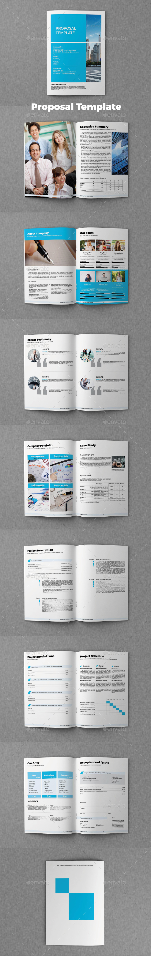 InDesign Proposal Graphics Designs Templates – Template for Proposal