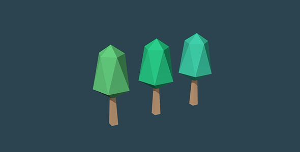 Low Poly Trees Set No. 1 - 3DOcean Item for Sale