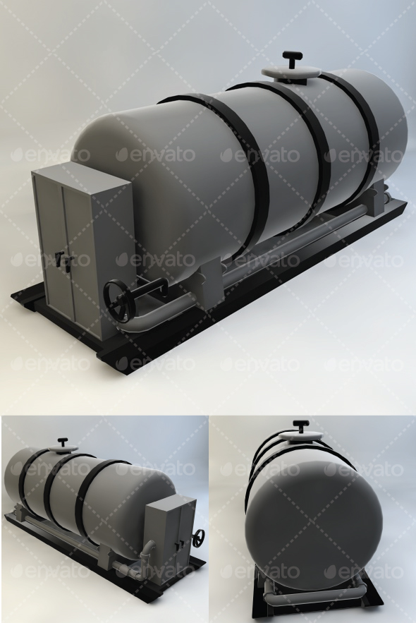 Fuel Tank - 3DOcean Item for Sale