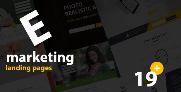 E- Marketing HTML Landing Page Templates