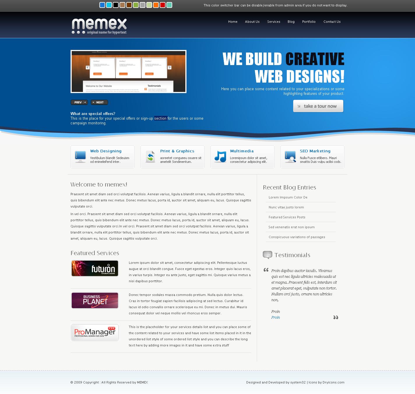 Memex Business + Portfolio + Blog Template