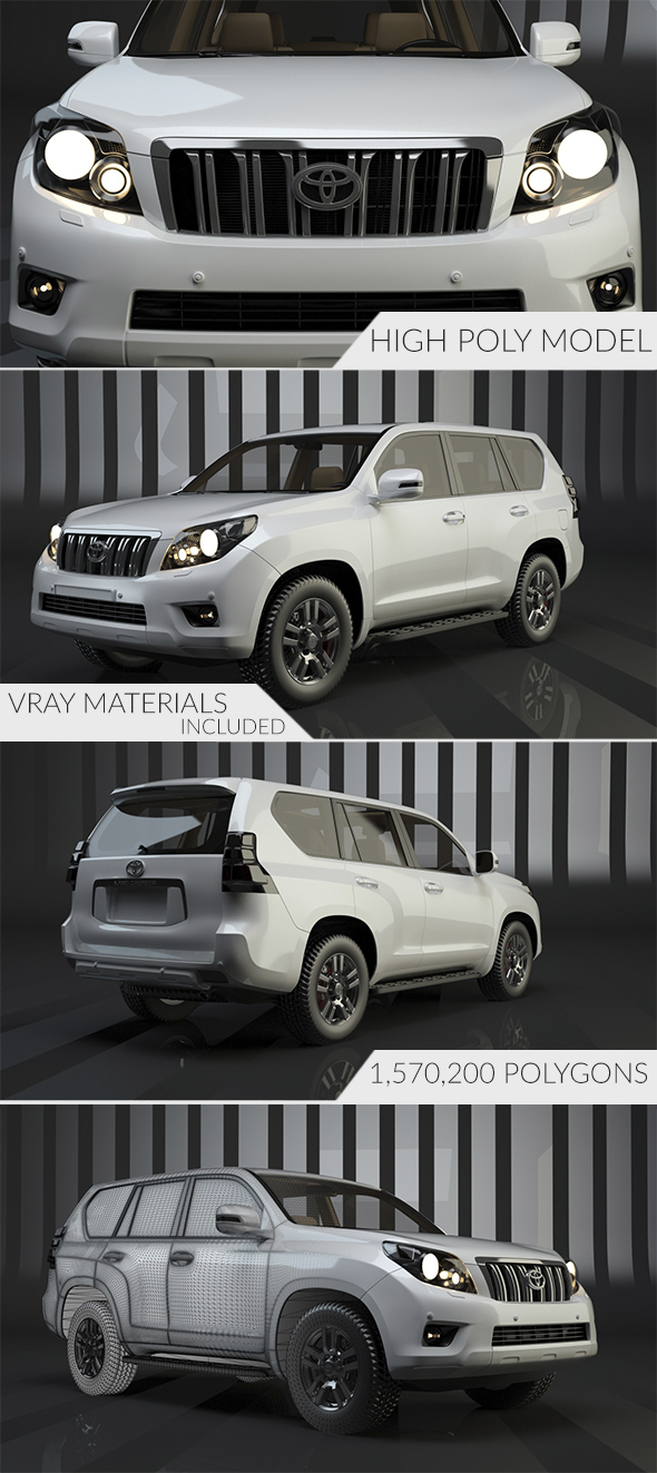 Toyota Land Cruiser Prado - 3DOcean Item for Sale