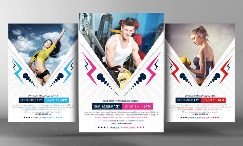 2 Fitness Flyer Template by GraphicForestNet – Fitness Brochure Template