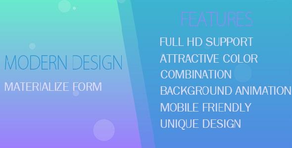 Login & Registration Form in MVC - Materialize Design