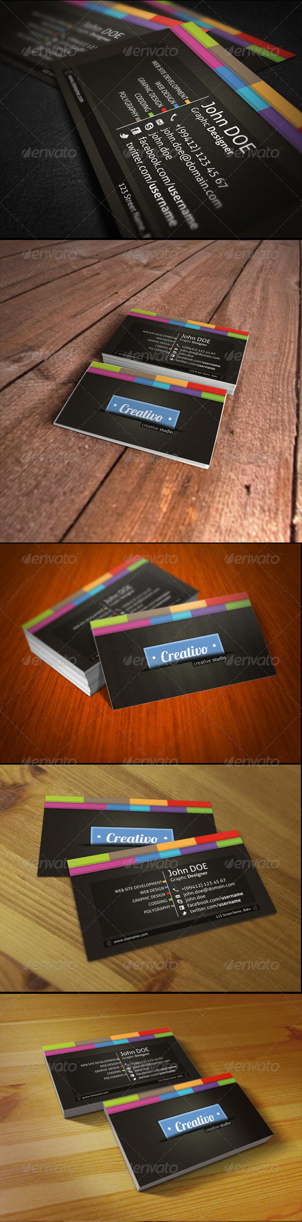 Creativo Business Card - Creative Business Cards