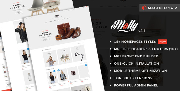 15 - Molly - Elegant & Clean Multipurpose Magento 2 & 1 Theme