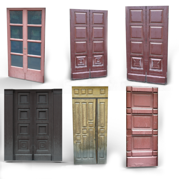 Old wooden doors - 3DOcean Item for Sale