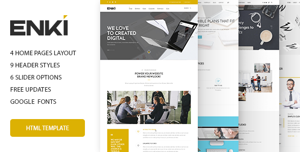 Enki multipurpose HTML5 template