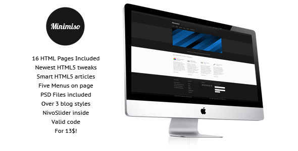 ThemeForest Minimiso Premium Template 1224062