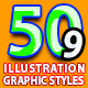 50 Illustrator Graphic Styles Bundle Vol.9
