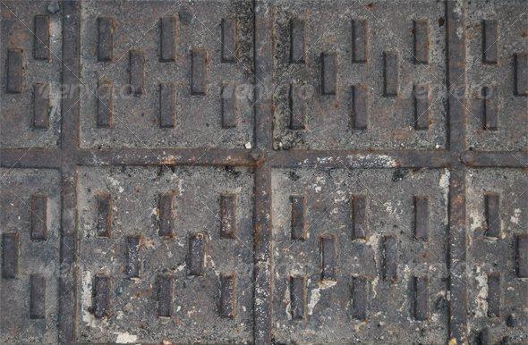 Graphic River Metal Grid Textures -  Metal 61789