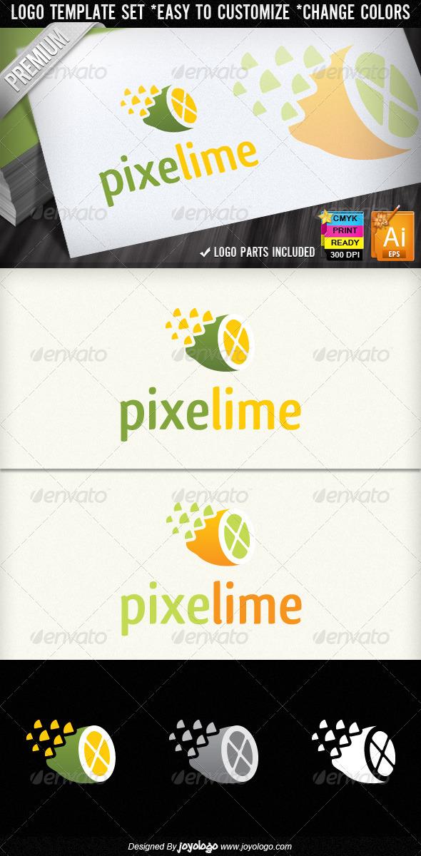 GraphicRiver Pixel Lime Creative Stuido Lemon Logo Designs 1571995