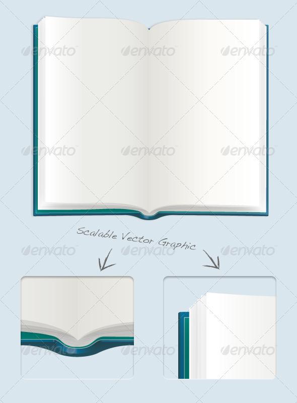 GraphicRiver Open Book Illustration 1572094