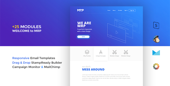MRP - Responsive Email Template