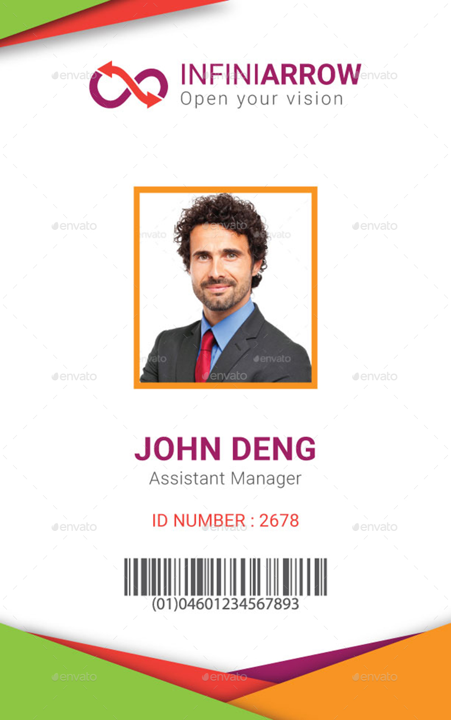 Multipurpose Business ID Card Template by dotnpix – Membership Id Card Template