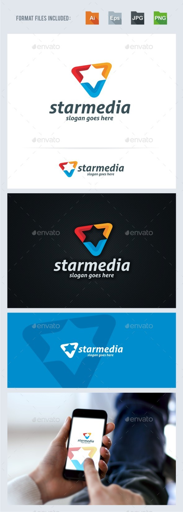Star Media Logo Template