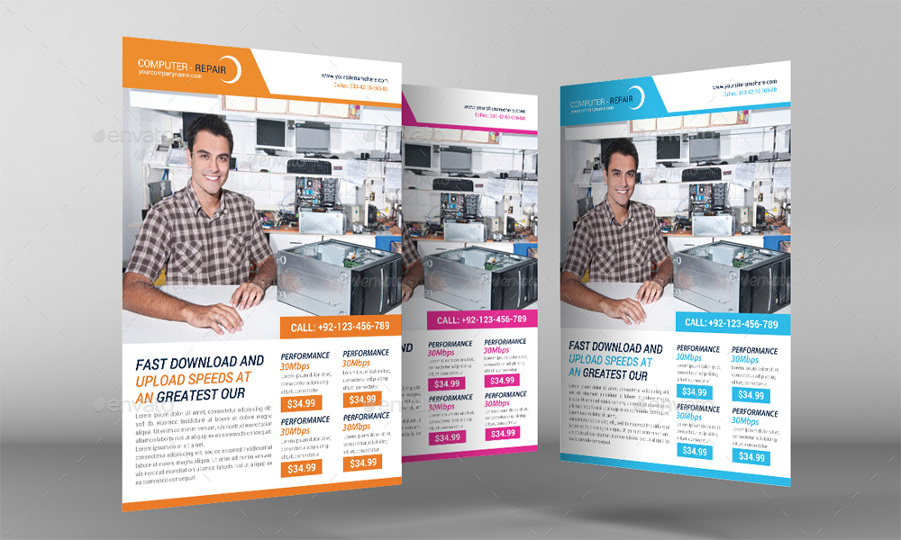 Computer Repair Flyer Template by GraphicForestNet – Computer Repair Flyer Template