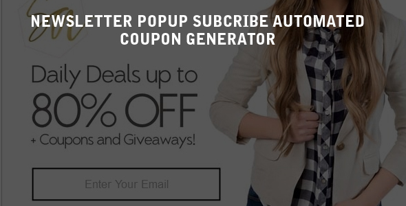 Mailchimp Newsletter Subscribe Popup and Coupon Generator with Birthday Coupon Support