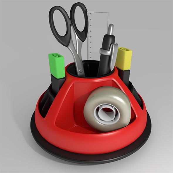 Desktop organizer - 3DOcean Item for Sale