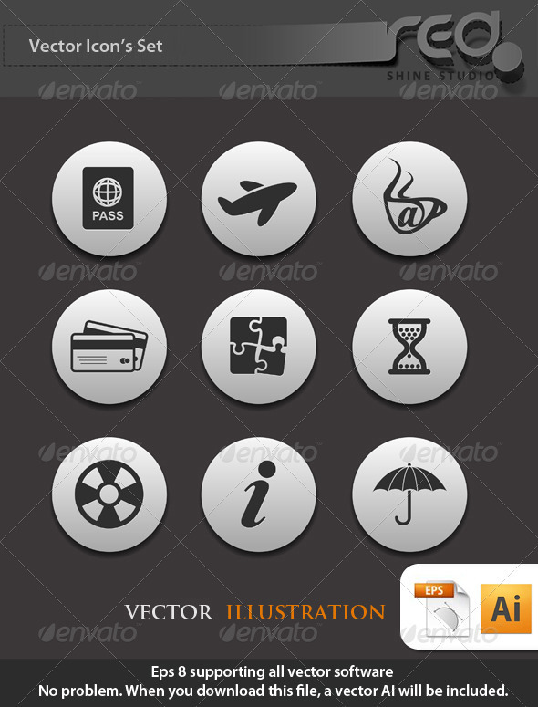 GraphicRiver Travel Icon Vector Pack 1572730