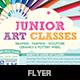 Junior Art Free Trial Class Flyer template