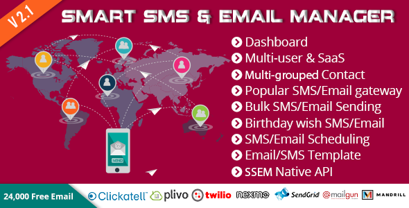 Download Smart SMS & Email Manager (SSEM) nulled download