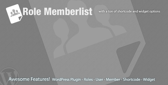 Role Memberlist - CodeCanyon Item for Sale