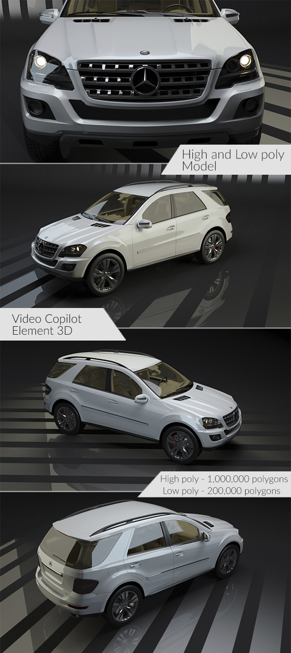 Mercedes ML 500 - Element 3D - 3DOcean Item for Sale