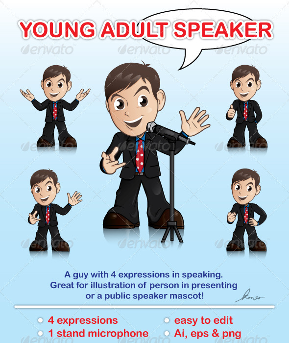 GraphicRiver Young Adult Speaker 1572947