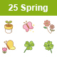 Spring Color Vector Icons