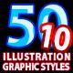 50 Illustrator Graphic Styles Vol.10