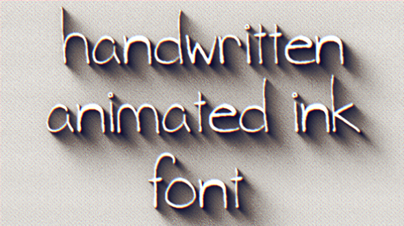 Animated Ink Font