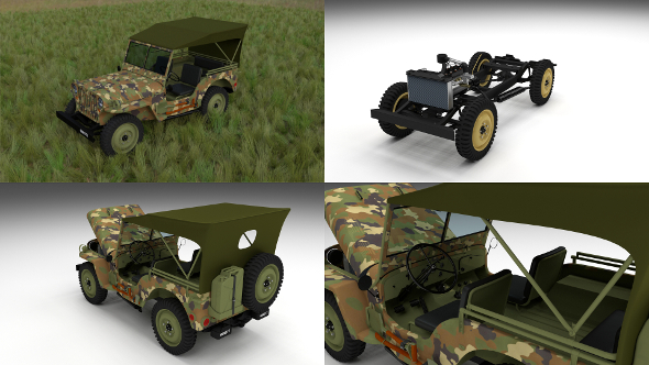 3DOcean Full w chassis Jeep Willys MB Military Camo HDRI 15734955