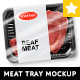Realistic Meat Tray MockUp