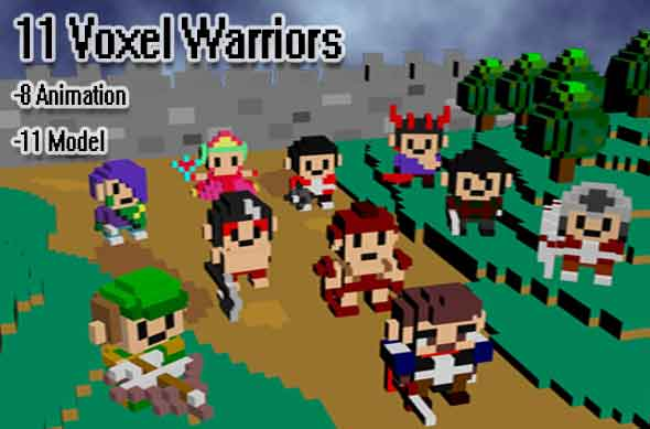 11 Voxel Warriors - 3DOcean Item for Sale