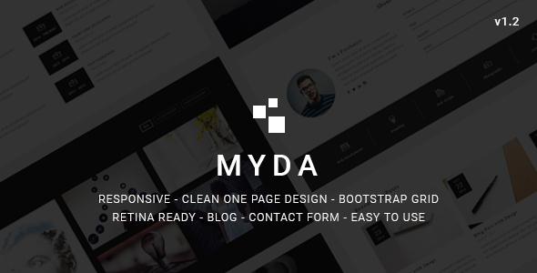 MYDA - Personal Resume and Portfolio Template