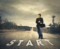 Man starting a journey
