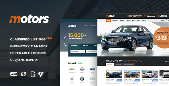 3 - Motors - Car Dealership WordPress Theme