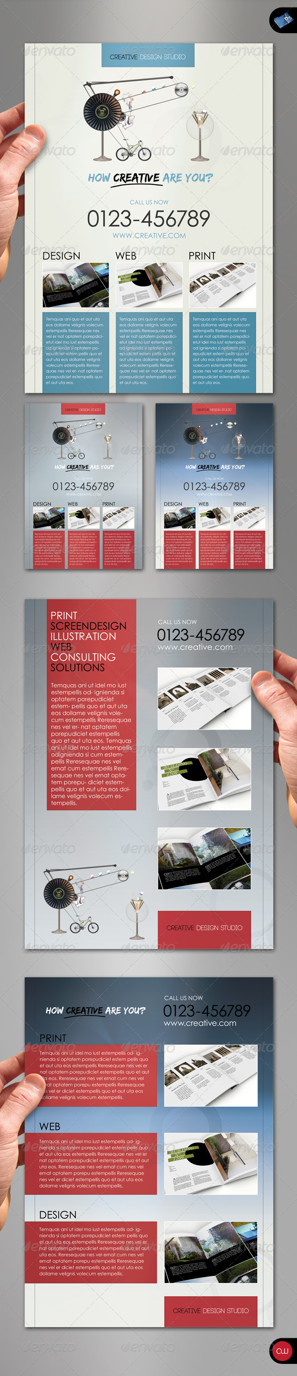 GraphicRiver Business Flyer How creative are you 1573878