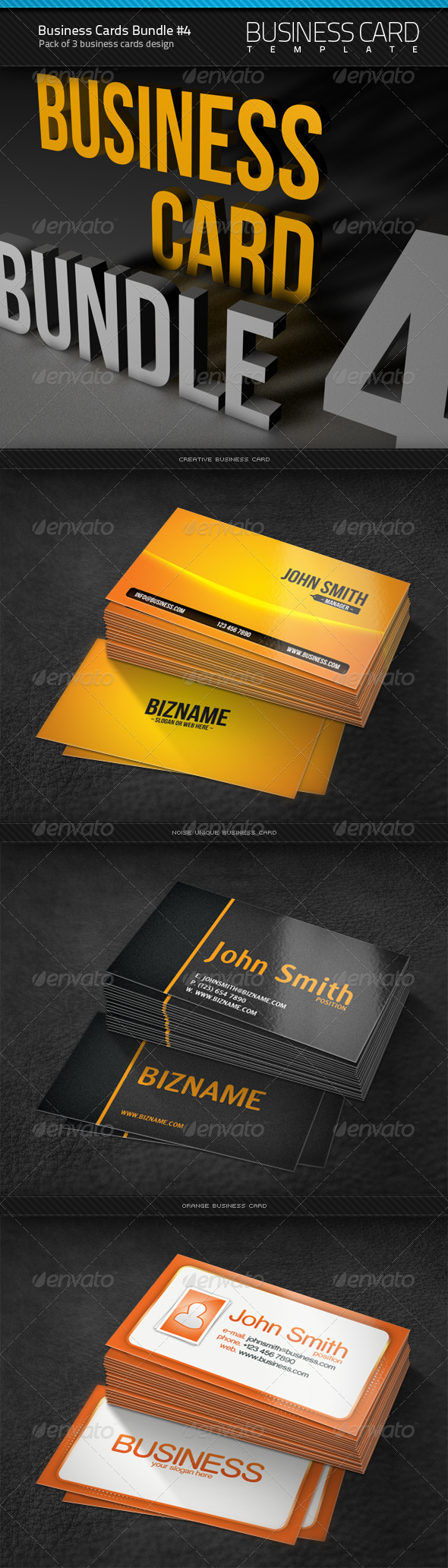 GraphicRiver Business Cards Bundle #4 1574433